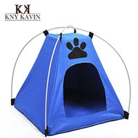 Wholesale Small Dog Beds For Sale - New 2014 Dog House Pet Tent Dog House Hot Sales Small Pet Tent Cats Pet House Bed Kennel For Dog Products House Cats Home HP017