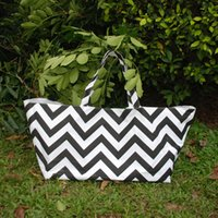 Chevron Tote Bag Atacado Blanks Black Chevron Square Gameday Tote Storage Bin, Gift Container, Armazenamento de Cozinha, Nursery Storage DOM106206