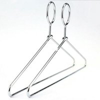 Wholesale Anti theft Metal Clothes Hanger with Security Hook for Hotel Used mm Thickness