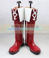 Wholesale Kyoko Sakura Cosplay - Wholesale-Puella Magi Madoka Magica Sakura Kyoko cosplay cosplay shoes boots Custom-Made