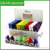 Wholesale Ego Twist Glass Tank - GS-H5 Clearomizer 100% Genuine GS H5 Atomizer for E Cigarette E Cig eGo-T Vision Twist Battery GS-H5 as GS-H2 GS-H3 Tanks 7 Colors In stock