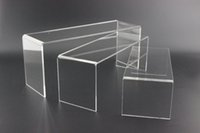 Wholesale Wholesale Doll Jewelry Display - 2 SETS Acrylic U shoe toy cosmetics ring display stand jewelry doll showing display stand shoes holder rack