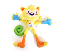 Wholesale Tom Cartoon Mascot - 30CM Rio de Janeiro 2016 Brazil Olympic Mascots Vinicius and Tom Expositions Paralympic Games Movies Cartoon Stuffed Animals Plush Toys Gift