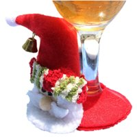 Vente en gros - 5pcs / set Noël Noël Papillon Noel Coaster Goblet Party Christmas Home Table Décoration Placemat Cup Mat Pad Party Party