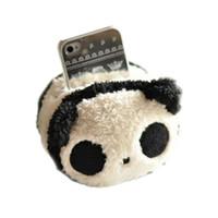 teléfono celular pieza al por mayor-Venta al por mayor-nuevo lindo cuadrado Panda Plush Toys Phone Seat Cell Phone Holder 1 pieza envío gratis útil 2016 caliente