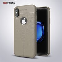 Wholesale Wholesale Iphone 5s Retro Case - Frosted Retro Leather Phone Case Shock-proof Back Cover High Quality Cases For iPhone X 8 7 6 6S Plus 5 5S Samsung Note8 S7 S8 Edge Plus