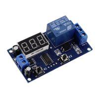 Wholesale Digital Display Time Relay - DC 12V Digital Display Trigger Cycle Time Delay Relay Module Board Wholesale 2016 free shipping tinyaa