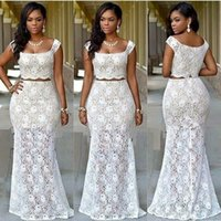 Wholesale Spring Maternity Outfits - new arrival two piece african prom dresses 2017 bridal outfits dresses evening wear party dresses dinner dresses