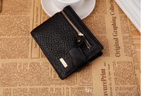 Wholesale man purse wallet for sale for sale - Group buy 2016 Hot sale Classical Genuine Leather High quality men wallets hasp zipper Designer coins pocket purse wallet for men