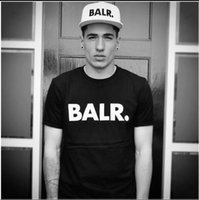 Wholesale Green Personality - Free Shipping Men's T Shirts Balr street tide brand short-sleeved round neck loose short-sleeved cotton men's personality men's T-shirt
