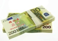 Wholesale Open Type - 100PCS Euros 200 Training Banknotes Movie Props Money Bank Staff Collect Learning Paper Money Home Holiday Decoration Art Crafts Gifts