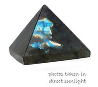 Wholesale Africa Carvings - Labradorite Pyramid Carved Genuine Natural 1 Inch