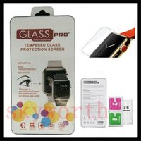 Wholesale transparent lcd screens resale online - For Apple Watch mm D H Tempered Glass Flim Screen Protector LCD With Retal package
