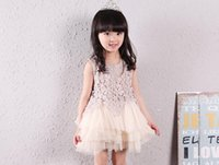Wholesale Cheap Korean Kids Clothing - Girl Party Dress,Summer Dress Princess,Beautiful Girl Korean Children Clothing Baby Dress Sleeveless,Cheap Kids Wedding Clothes