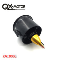 Wholesale Ducted Fan Rc Jets - QX-MOTOR 70mm Ducted Fan + 6 Blades EDF With QF2822 3000KV Motor Brushless for RC Jet AirPlane