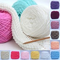 Wholesale natural wool yarn - Hot Sale 1Lot 200g Smooth Milk Cotton Thick Yarn Soft Natural Double Hand Knitting Wool Crochet Yarn for Scarf Hat Baby Woolcraft Gift