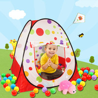 Wholesale Marine Ball Toy - Wholesale-free shipping Children's folding tent indoor pool baby marine ball ball game house toys tuba Children's Day gift