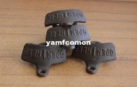 Wholesale Cheap Wall Hooks - 500pcs very cheap Vintage Antique Bottle Beer Opener Wall Mounted Hanging Wall Hook Beer Openers Mount Copper Cap Metal Retro with no screws