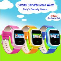 2016 Orologio da polso colorato GPS Q60 Smart SOS Chiamata Posizione Finder Locator Tracker dispositivo Kid Safe Anti Lost Monitor