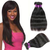 Wholesale Cheap Wholesale Buy Hair - Peruvian Straight Virgin Hair Weave Belleshow Unprocesse Human Hair Bundles Cheap Hair Extensions Can Buy 3 or 4 Bundles