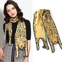 Wholesale Wholesale Leopard Print Scarf - 2017 new women solid leopard 3d print scarf children and adult fashion cute animals scarves decoration handbags wraps