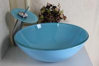 lavabo de estilo pastoral cuarto de bao lavabo de vidrio lavabo de vaso de vidrio lavamanos