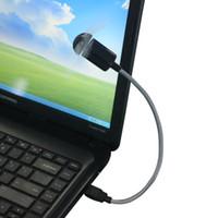 Wholesale laptop desktop china online - New Arrival Flexible USB port Mini Cooling Fan Cooler For Laptop Desktop PC Computer June07