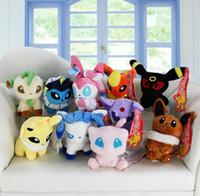 Wholesale Mew Poke - MOQ 10pcs Poke plush toys Mew Umbreon Eevee Espeon Jolteon Vaporeon Flareon Glaceon Leafeon sylveon Animals Soft Stuffed Dolls toy Free Ship