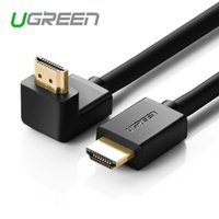 Wholesale Hdmi Cable Meter - UGreen Hdmi Line Version 1.4 90 Degree Elbow Hd Data Cable Set-top Box Connected Tv 1 Meters 3 Meters 5 Meters Free shipping