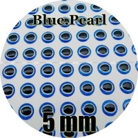 """Wholesale Made Fly Fishing Lure - 5mm Blue.Pearl   Wholesale 700 Soft Molded 3D Holographic Fish Eyes, Fly Tying, Jig, Lure Making, 3 16"""""""