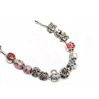 Wholesale Loose Rhinestone Vintage - Vintage Mixed Enamel Rhinestone Crystal Bead Charms Spacer Loose Beads For DIY Jewelry Making Bracelets Approx. 40g lot