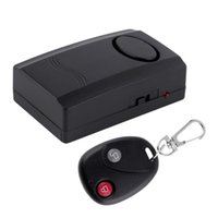 Wholesale Door Window Vibrations Alarms - Wireless Vibration Alarm Home Security Door Window Car Motorcycle Anti-Theft Remote Control Security Alarm Safe System Detector