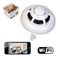 Wholesale Smoke Detectors Hidden Wireless Camera - HD UFO WI-FI WiFiPoint-to-Point Smoke Detector Wireless IP Camera Hidden Nanny Cam Video Recorder Camcorder P2P
