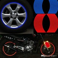 Wholesale Wheel Reflective Tape Bike - Polyethylene Terephthalate Wheel Sticker Reflective Rim Stripe Tape Bike Motorcycle Car CAR-0052
