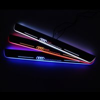 Wholesale S4 Cover Led - Styling for A4L S4 RS4 2013-2015 A style Sline Style Car Styling LED pedal light pathway light Moving Door Scuff Door Sill Plate Cover Side
