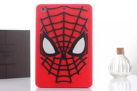 1 pz / lotto 3d cute cartoon super heroes batman spiderman morbida gomma di silicone copertura posteriore tablet case per ipad mini 2/3 ipad2 3 4