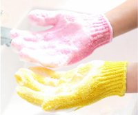 Wholesale Exfoliating Mitts - Random scrub bath glove five fingers bath gloves hammam scrub mitt magic glove exfoliating a lot of color
