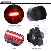 Cycling Night Bike Rechargeable Light Lanterna de cor dupla para Mountain Road Bicycle Seatpost Light Bicycle Accessories