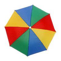 Wholesale Wholesale Outdoor Umbrella Fabric - Adult Children Outdoor Foldable Sun Umbrella Hat Golf Fishing Camping Shade Beach Headwear Cap Head Hats LLFA