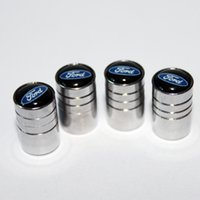 Wholesale Hyundai Caps - Ford styling Wheel Tire Valves Tyre Stem Air Caps Cover case Series Stainless Steel