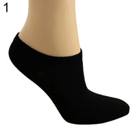 Wholesale Ladies Crew Socks White - Wholesale-Warm Lady 1 Pair Candy Color Ankle Socks Short Low Cut Crew Casual Sport Boat Socks 99ME