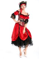 Wholesale Pirate Queen Costume - Hight Quality Luxury Woman Pirate Queen Cosplay Costumes For Halloween Masquerade, Fancy Dress Masquerade Pirate Costume H015