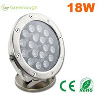 4PCS 18W LED Underwater Fountain Light DC24V LED Fishing Pool Lights Exterior Jardim Lamp RGB Underwater Pond Light
