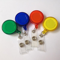 Wholesale 2000 random color Plastic Reels Retractable for ID Card Badge Holder YOYO Solid