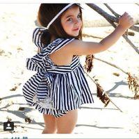 Wholesale Little Pink Underwear - 2016 summer Beach baby girl dress+ Brief underwear set 2pcs sleeveless Lace princess dress little girl toddler Free express