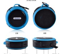 Wholesale Handsfree Wma - C6 IPX7 Outdoor Sports Portable Waterproof Wireless Bluetooth Speaker Suction Cup Handsfree MIC Voice Box For iPhone Samsung phone DHL
