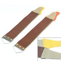 Wholesale Razor Sharpening Strop - Wholesale-Leather Sharpening Canvas Strop Barber Open Straight Razor Sharpening Shave 8C2Z