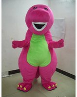 Wholesale Costume Dinosaur - free shipping Profession Barney Dinosaur Mascot Costumes Halloween Cartoon Adult Size Fancy Dress
