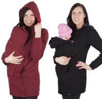 Wholesale Quality Poncho - Fashion Baby carrier Kangaroo Coat Jacket Warm MOM and BABY babywearing fleece Winter Warm thicken Jackets top quality