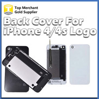 Wholesale black glass housing iphone 4s for sale – best Back Glass Battery Housing Door Cover Replacement Part GSM for iphone S Black White Color A quality free DHL